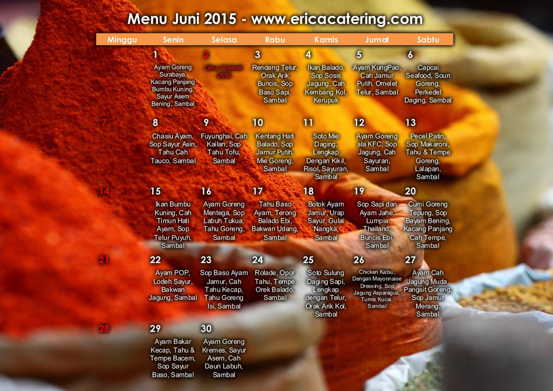 Menu Erica Catering Juni 2015