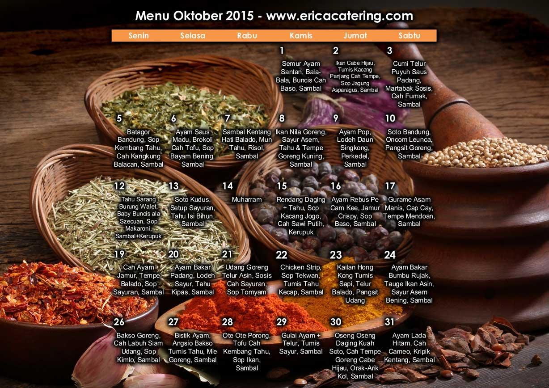 Menu Erica Catering Oktober 2015