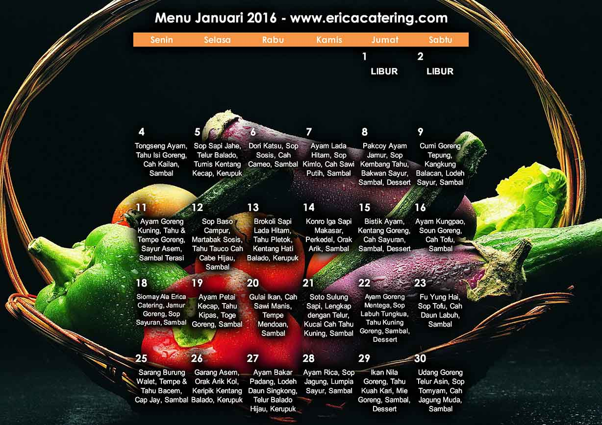 Menu Erica Catering Januari 2016