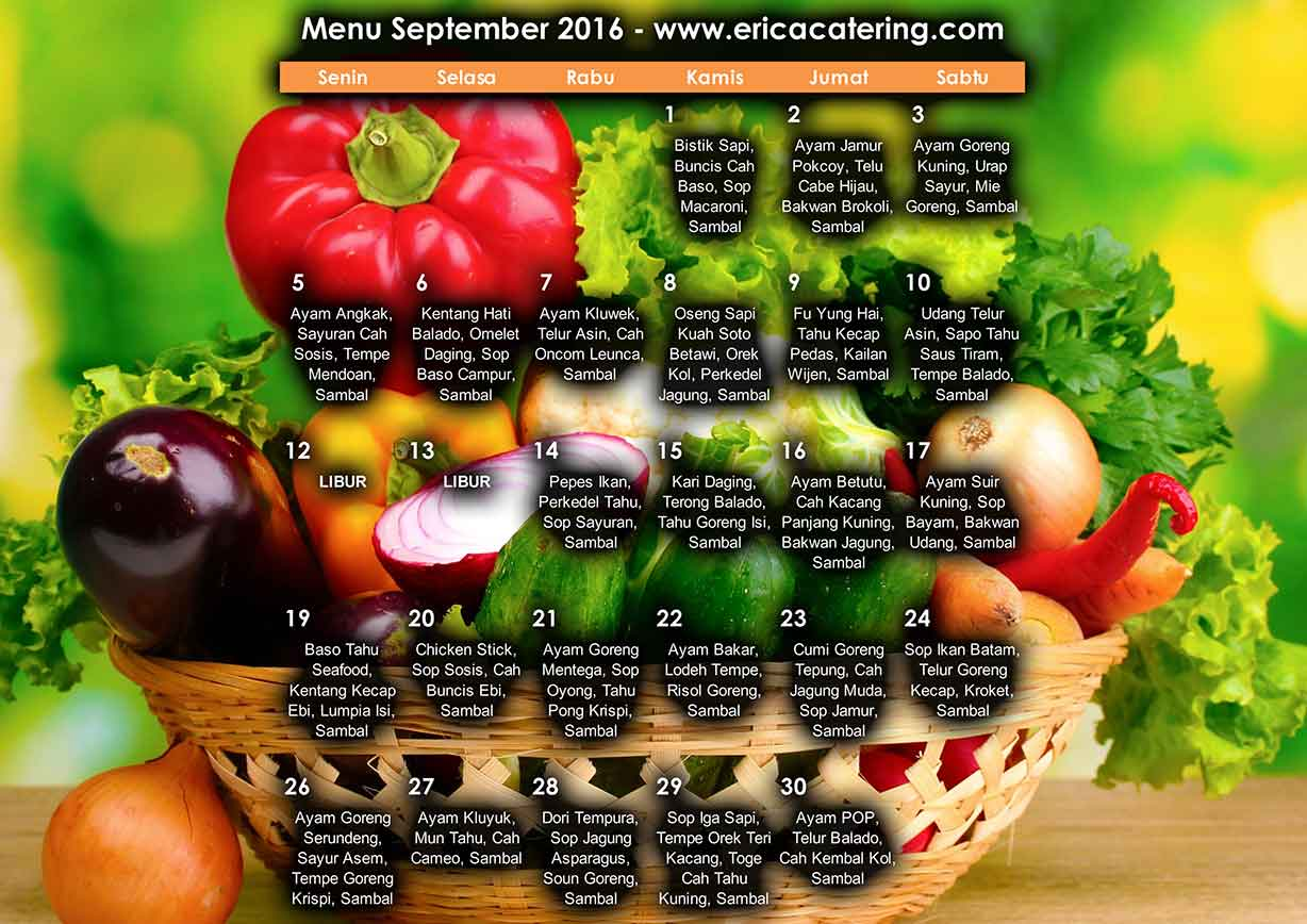 Menu Erica Catering September 2016