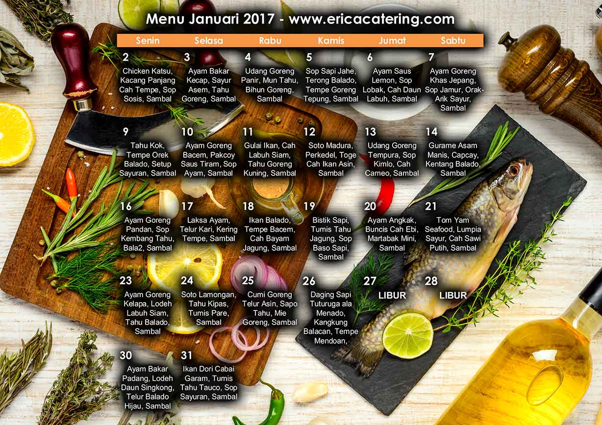 Menu Erica Catering Januari 2017