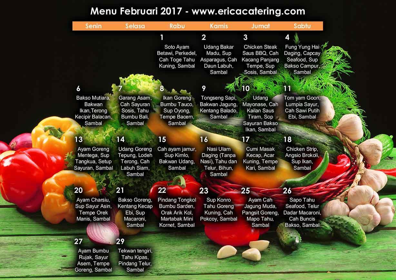 Menu Erica Catering Februari 2017