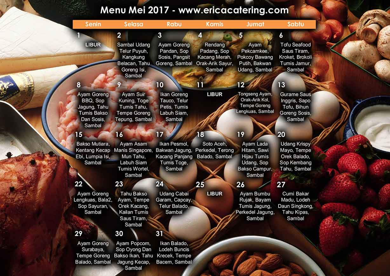 Menu Erica Catering Mei 2017