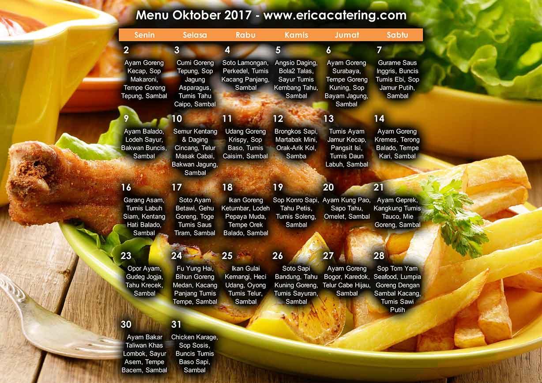 Menu Erica Catering Oktober 2017